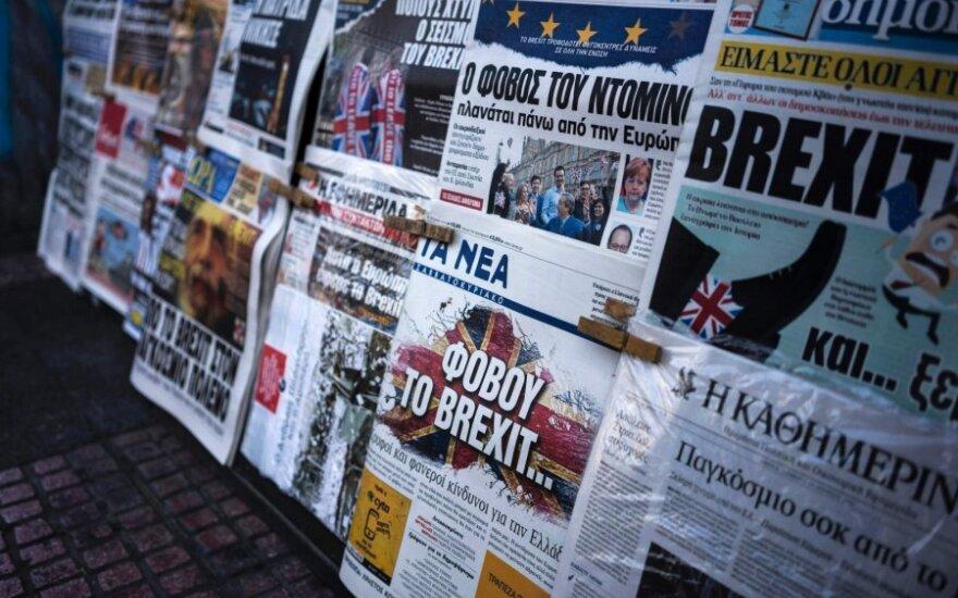 """""""Brexit"""": nežinomybė ir chaosas rinkose tęsiasi"""