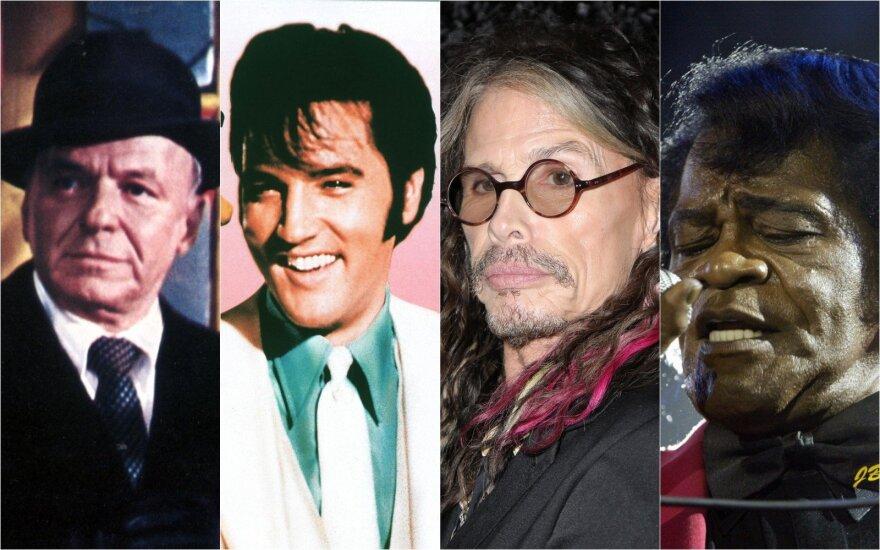 Frank Sinatra, Elvis Presley, Steven Tyler, James Brown