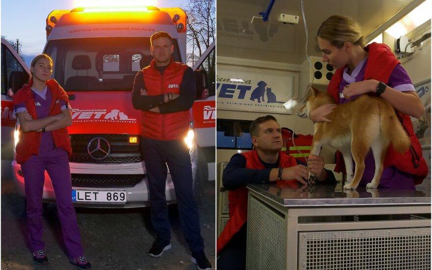 Pirmasis greitosios veterinarinės pagalbos automobilis Lietuvoje