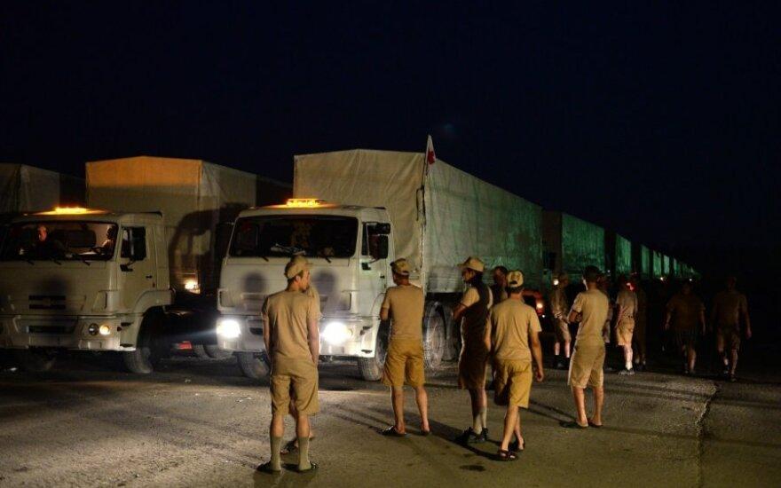 Pasiekė savo: iš Rusijos į Ukrainą keliauja 280 sunkvežimių