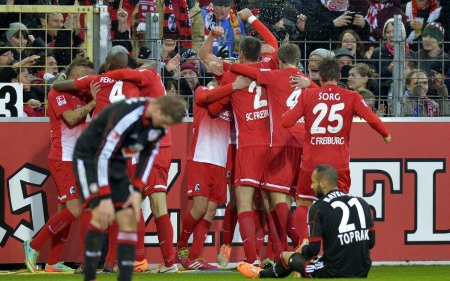"""""""Freiburg"""" futbolininkai džiaugiasi įvarčiu"""