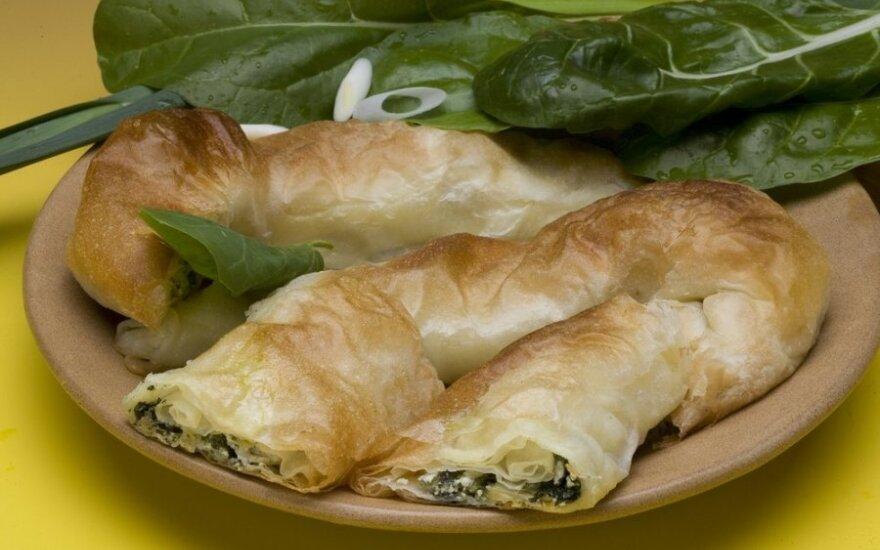 Bosniškas špinatų ir sūrio pyragas - zeljanica