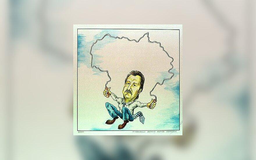 Viktoras Uspaskichas - karikatūra