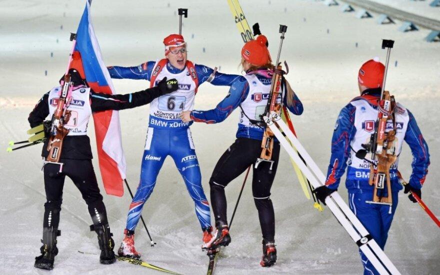 Čekijos biatlonininkai