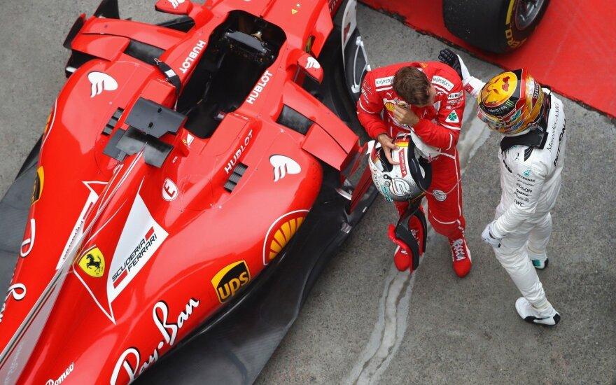 "Lewisas Hamiltonas ir ""Ferrari"""