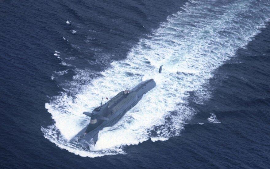 JAV žiniasklaida: Kinijos povandeninis laivas išbandė didelio nuotolio balistinę raketą