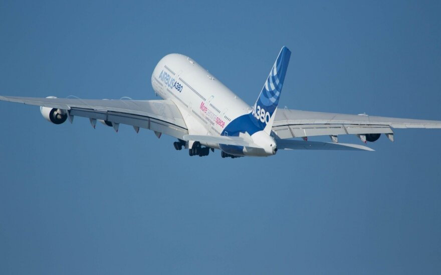 Didžiausias pasaulyje keleivinis lėktuvas Airbus A380