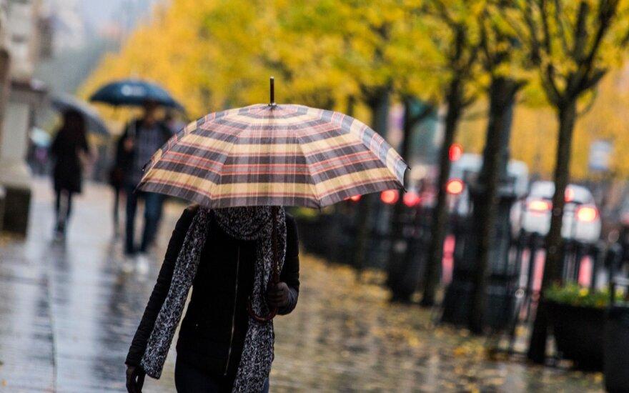 Orai: visą savaitę Lietuvą merks lietus