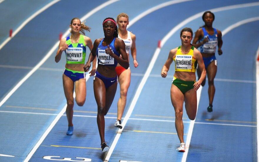 Agnė Šerkšnienė uždarų patalpų pasaulio lengvosios atletikos čempionate