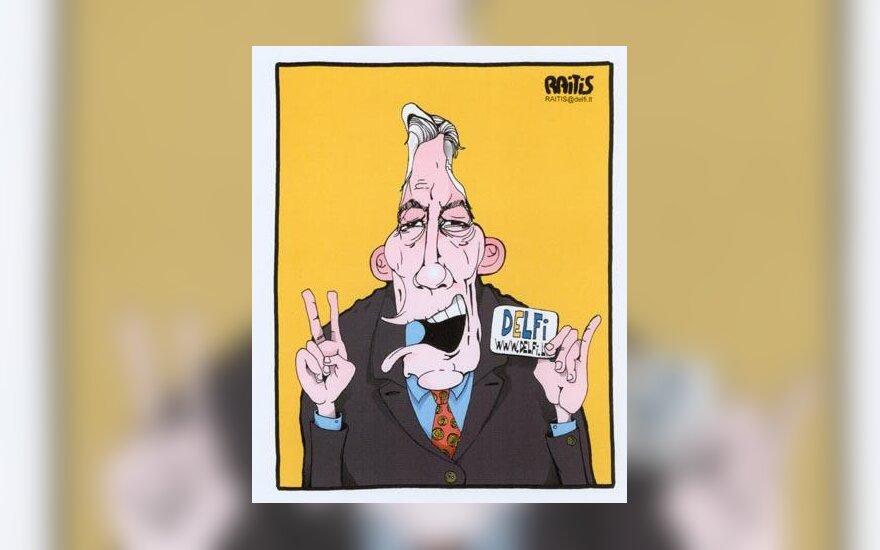 Valdo Adamkaus karikatūra