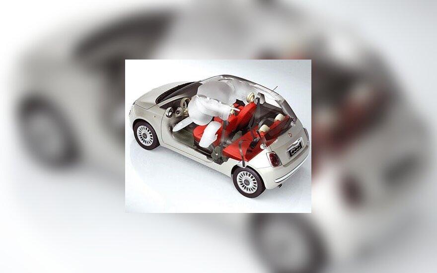 """Fiat 500"" saugumas"