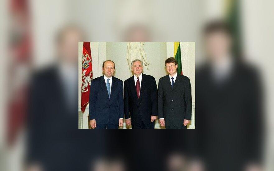 V.Adamkus, R.Paksas ir A.Kubilius