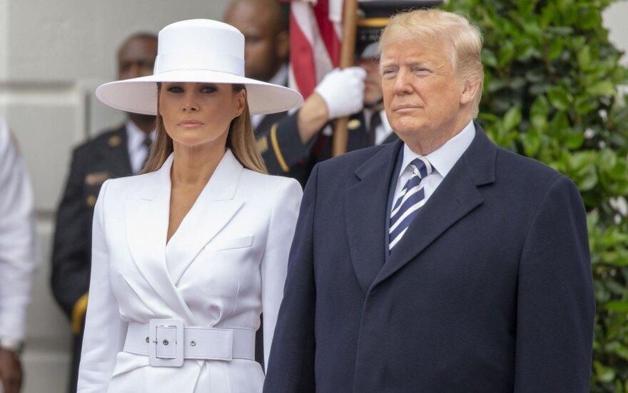 DonaldasTrumpas ir Melania Trump