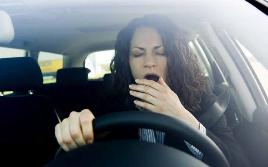 Pavargusi vairuotoja