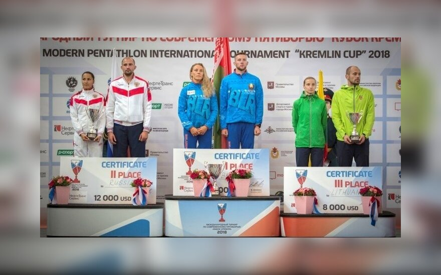 Gintarė Venčkauskaitė ir Justinas Kinderis (pentathlon-russia.ru nuotr.)