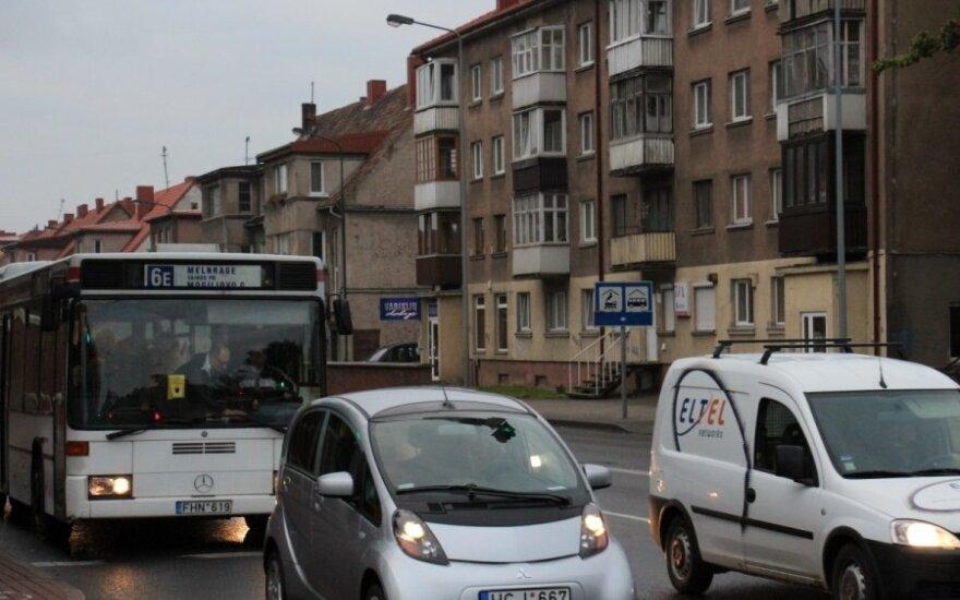 Klaipėdoje - unikalios autobuso, elektromobilio, dviratininko varžybos