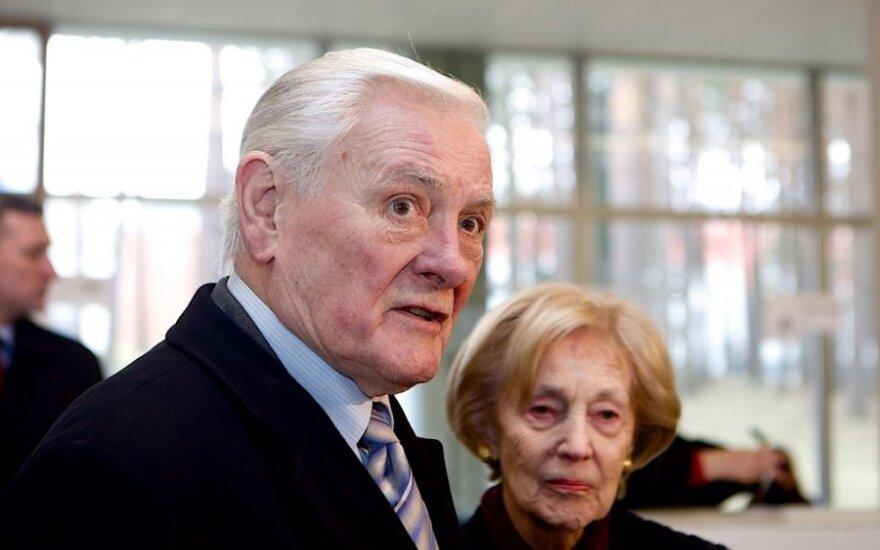 President Valdas Adamkus and his wife Alma Adamkienė