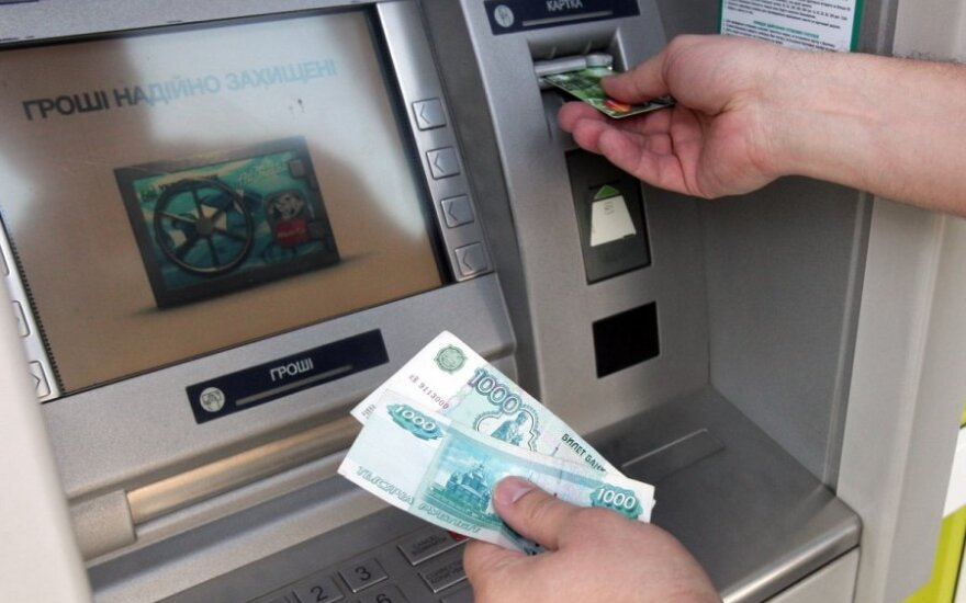 Rusijos bankų pelnas sumažėjo tris kartus