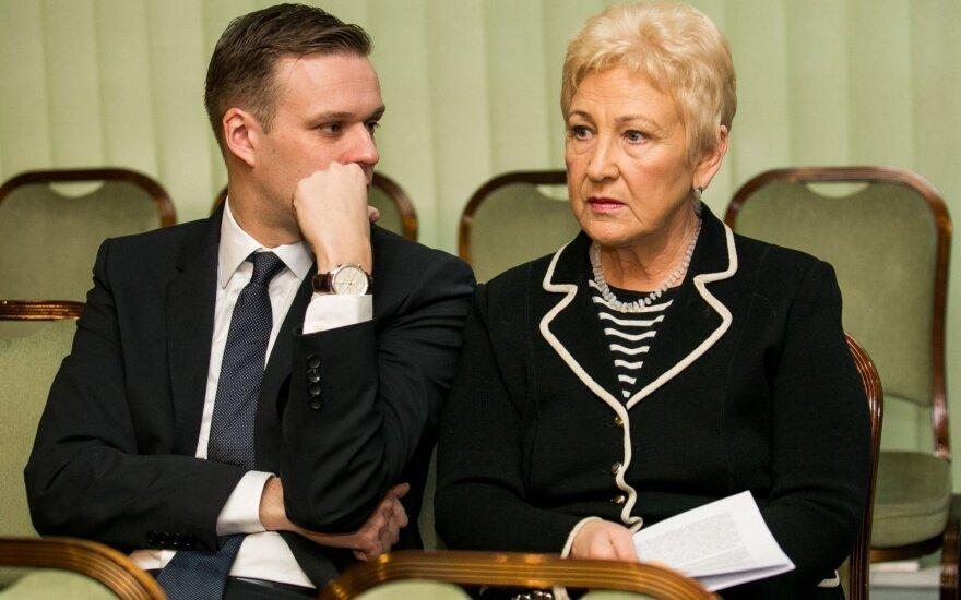 Gabrielius Landsbergis ir Irena Degutienė