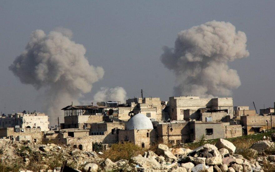 Oro antskrydžiai Sirijos Alepo mieste pražudė žmones