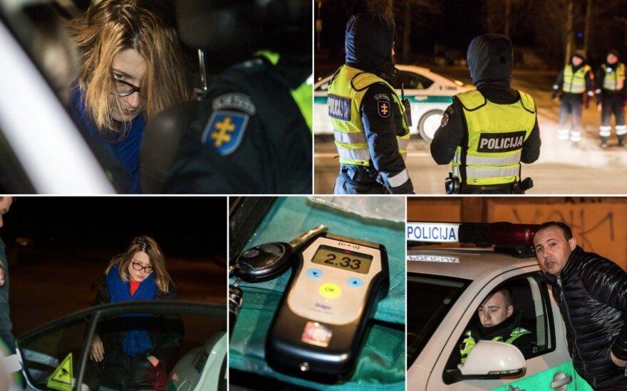 Naktis sostinėje: vos pastovinti vairuotoja, tiesos ieškotojas ir kiti pažeidėjai