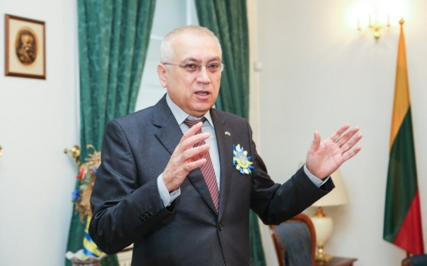 Ukraine's Ambassador to Lithuania Valery Zhovtenko