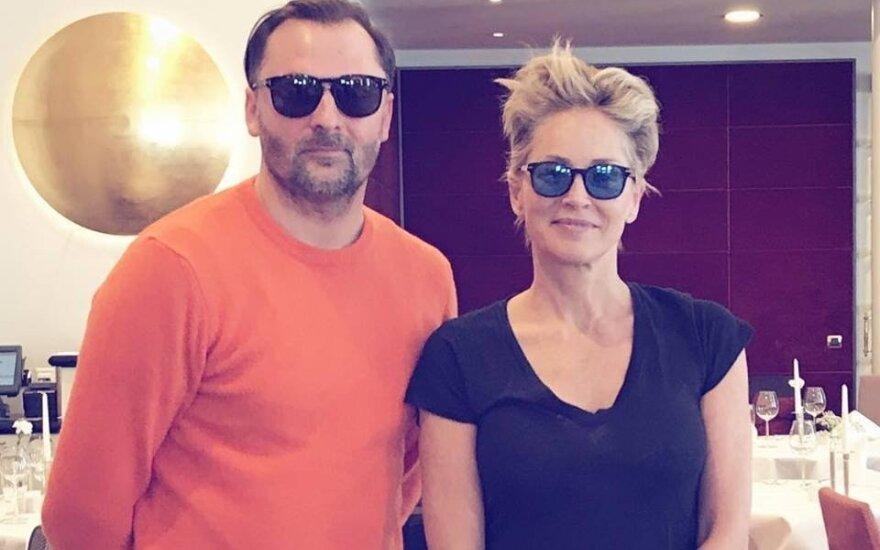 Mantas Petruškevičius, Sharon Stone