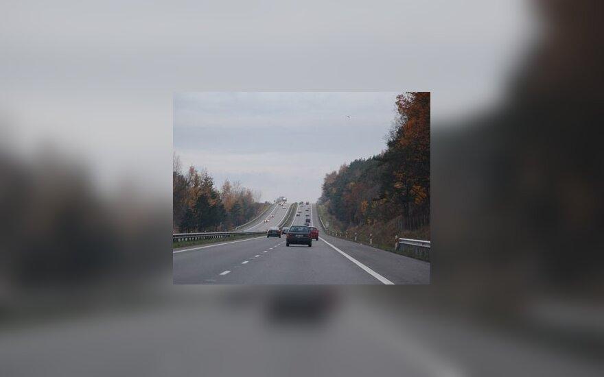 Greitkelio ruožas kelyje Vilnius-Kaunas prailgintas keturis kartus