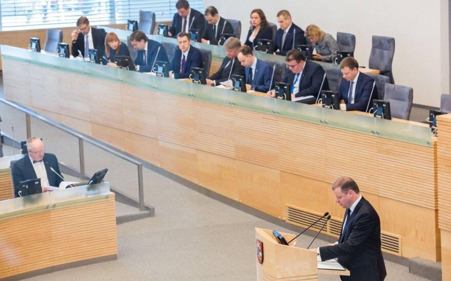 Seimą pasieks siūlymas dėl premjero ir ministrų algų didinimo