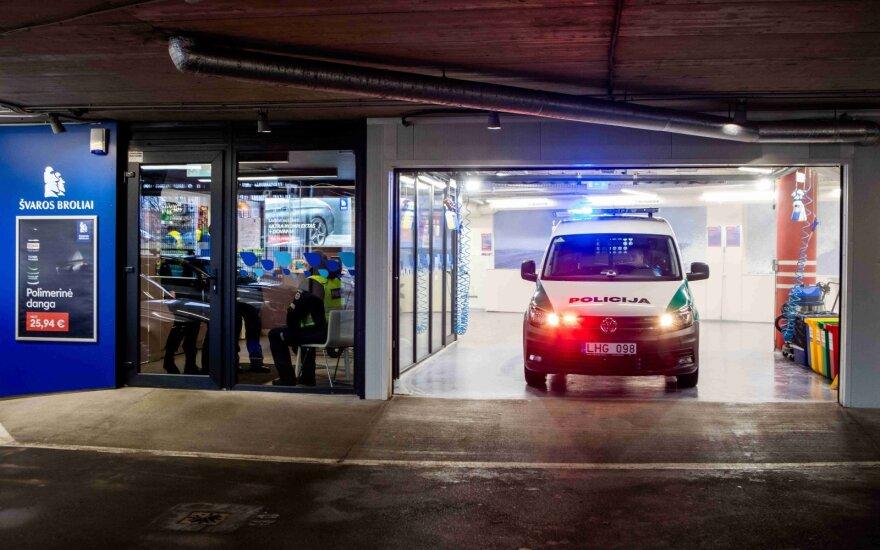 Dalis Vilniaus policijos automobilių bus nemokamai dezinfekuoti