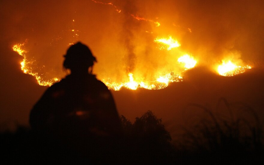Los Andžele plinta miškų gaisrai