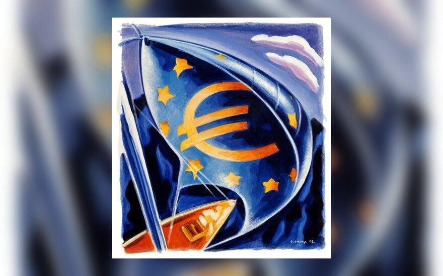 Eurozonoje užfiksuota defliacija