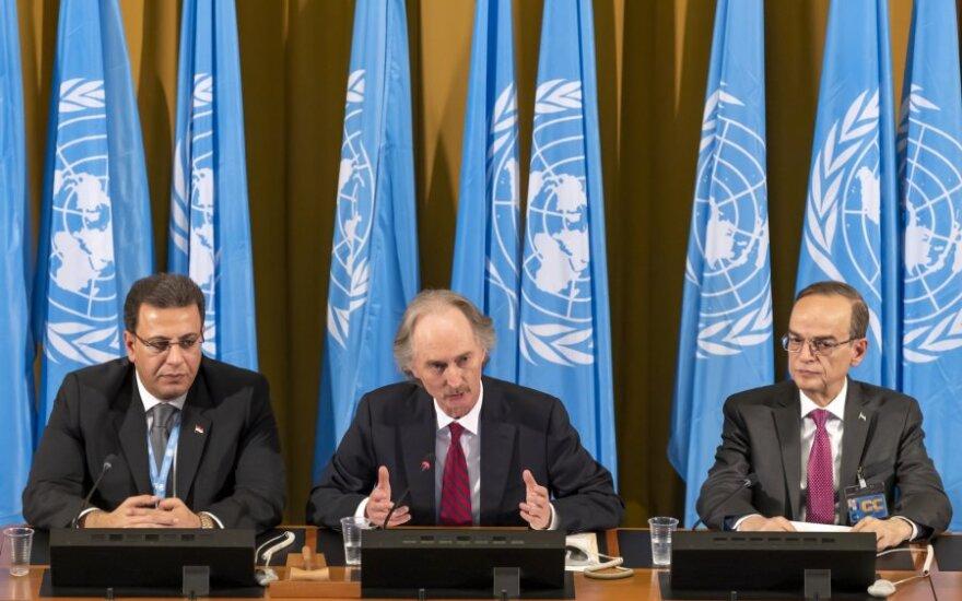 Sirijos konstitucinis komitetas pradėjo darbą Ženevoje