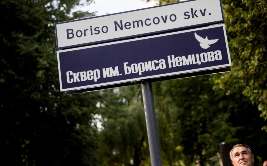 Vilnius opens square named after slain Russian opposition leader Nemtsov