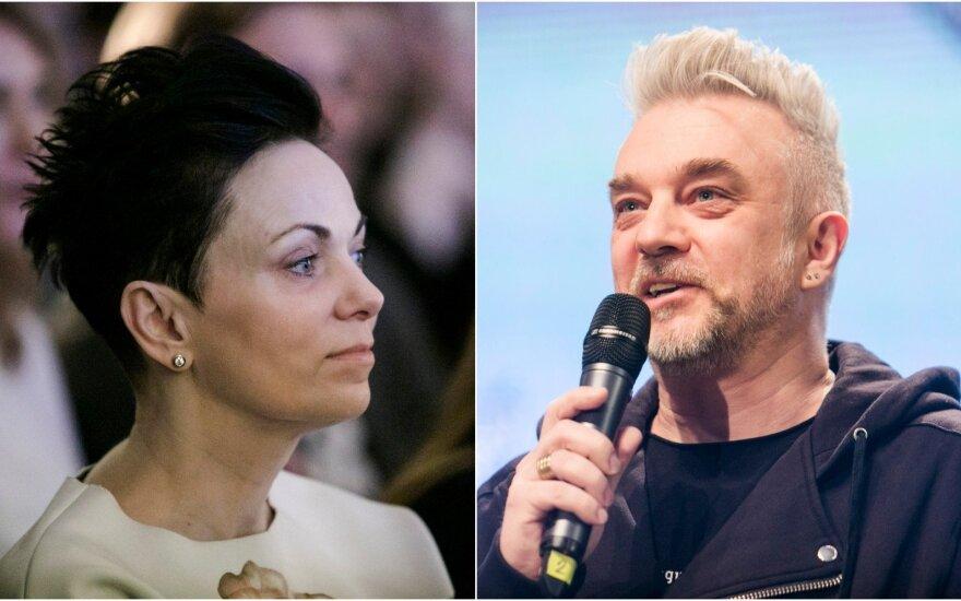 Andrius Mamontovas ir jo žmona