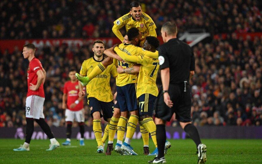 """Prasčiausias startas per 30 metų: """"Arsenal"""" klubo neįveikęs """"Man United"""" Anglijoje – tik dešimtas"""