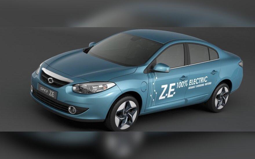 """""""Renault Samsung Motors"""" Busano automobilių parodoje pristatė naujus elektrinius modelius"""
