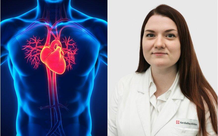 Gydytoja Agnė Mažutavičiūtė papaskojo apie širdies nepakamumo priežastis ir simptomus.