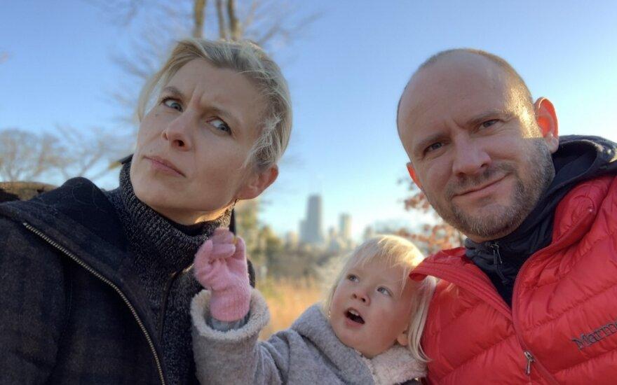 Čikagos lietuvių pora – medikė Aurika Savickaitė ir verslininkas Dobilas Deividas Lukauskas