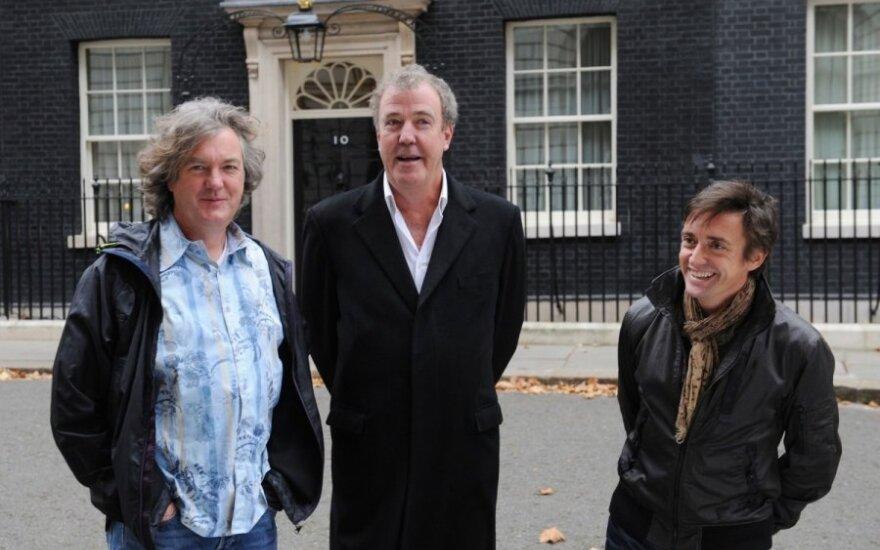 Jeremy Clarksonas su kolegomis TopGear laidos vedėjais