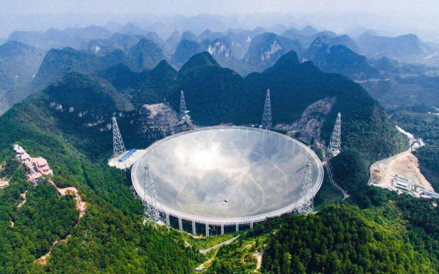 Milžiniškas teleskopas Kinijoje