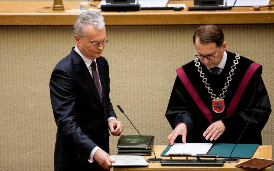 Nausėda prisaikdintas naujuoju Lietuvos prezidentu