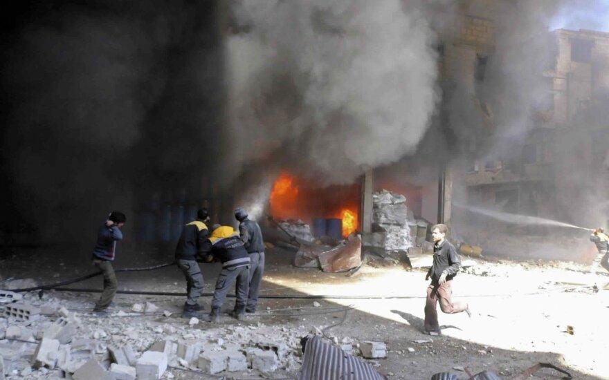 Dėl svarbios ligoninės subombardavimo Sirijos sukilėlių anklave kaltinama Rusija