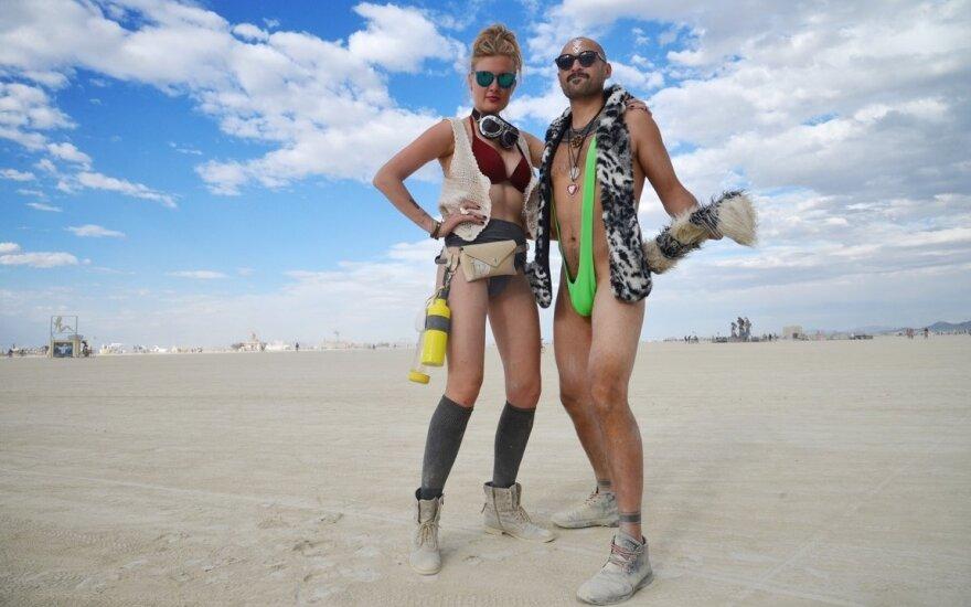 """Jurgis Didžiulis festivalyje """"Burning Man"""""""