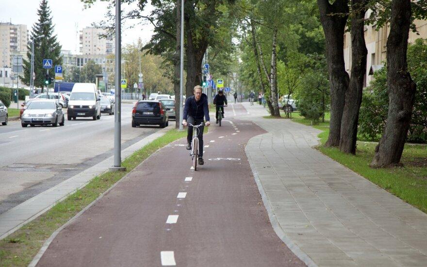 Pietinėje Vilniaus dalyje prasidės dviračių takų atnaujinimas