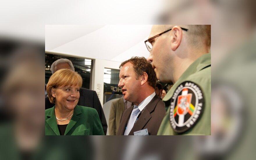 Berlyne – A.Merkel ir Lietuvos aviatorių susitikimas