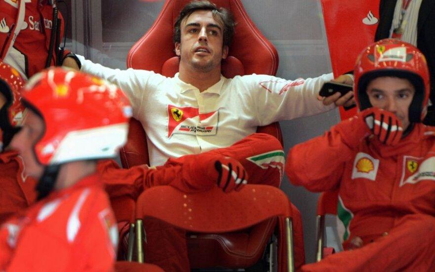 Fernando Alonso po avarijos