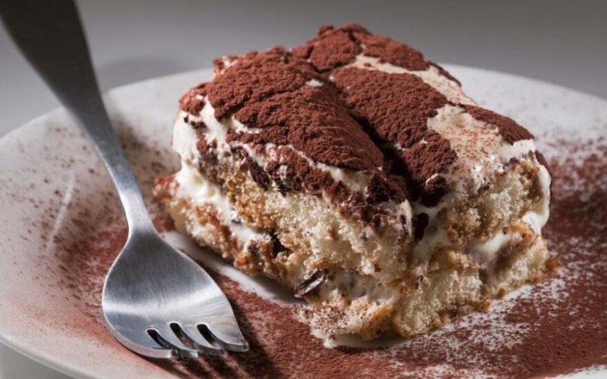 Viens-du: pasakiškas Tiramisu skonio tortas