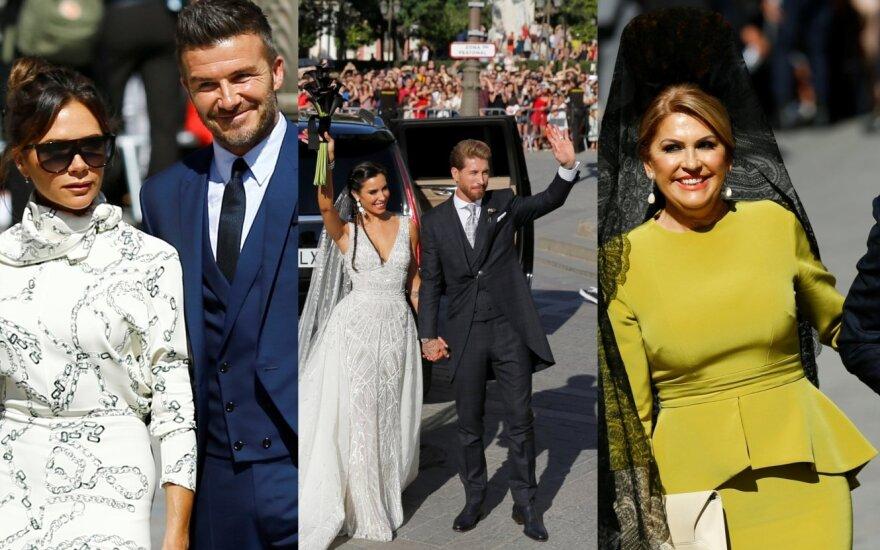 Sergio Ramoso ir Pilar Rubio vestuvių akimirkos