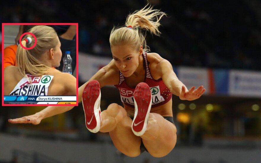 Rusijos lengvaatletė Darija Klišina Serbijoje, Europos lengvosios atletikos uždarų patalpų čempionate
